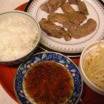 前夜の食事 カルビ焼き定食 もやしナムル レシピ 作り方